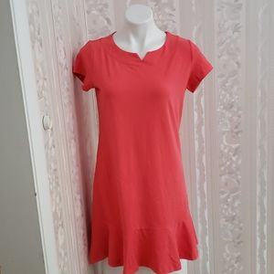 Land'End Ruffle Hem Tshirt Dress